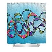 Strong Wind Shower Curtain