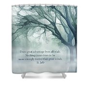 Strongly Rooted Shower Curtain