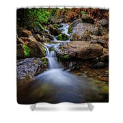 Strongs Canyon Cascades Shower Curtain