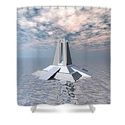 Structural Tower Of Atlantis Shower Curtain