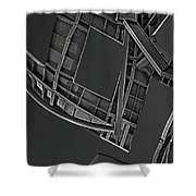 Structure - Center For Brain Health - Las Vegas - Black And White Shower Curtain