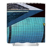 Structures East 3 Shower Curtain