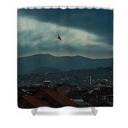 Strumica Blue Shower Curtain