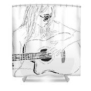 Strumming It Shower Curtain