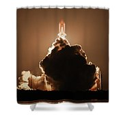 Sts-128 Night Launch Shower Curtain