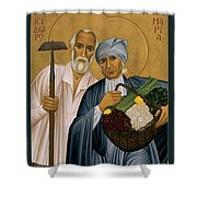 Sts. Isidore And Maria - Rliam Shower Curtain