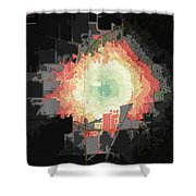 Stuart And Amber Bike Scorched Black Jagged Topo Shower Curtain