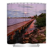 Stuart Riverwalk Sunset Shower Curtain