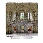 Stucco Villa - Villa Degli Stucchi I Shower Curtain by Enrico Pelos