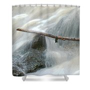 Stuck Digitally Enhanced Shower Curtain