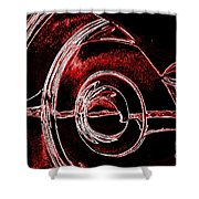 Studebaker Neon Red Shower Curtain