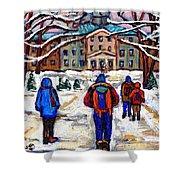 L'art De Mcgill University Tableaux A Vendre Montreal Art For Sale Petits Formats Mcgill Paintings  Shower Curtain