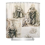 Studies For Nativity Shower Curtain