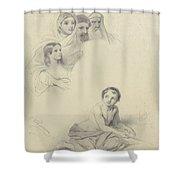 Studies Of Children And Some Adults, Cornelis Kruseman, 1814 Shower Curtain
