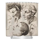 Studies Of Heads Anonimo, Blooteling Abraham Shower Curtain