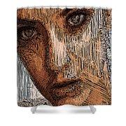 Studio Portrait In Pencil  Shower Curtain