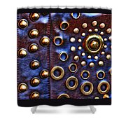 Studs On Leather Shower Curtain