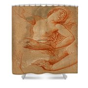 Study For Boreas Abducting Oreithyia Shower Curtain