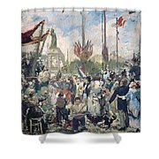 Study For Le 14 Juillet 1880 Shower Curtain