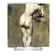 Study For Mademoiselle Rose Shower Curtain