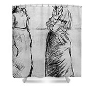 Study For The Cat Camille Pissarro Shower Curtain