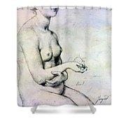 Study For Vaus Paphos Shower Curtain