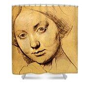 Study For Vicomtesse D Hausonville Born Louise Albertine De Broglie Shower Curtain