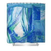 Study In The Blues Shower Curtain