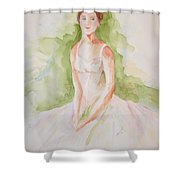 Study Of A Ballerina Shower Curtain