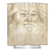 Study Of A Bearded Man [verso] Shower Curtain