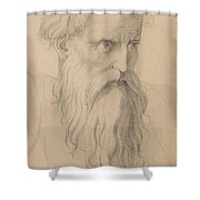 Study Of A Character Head Shower Curtain