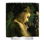 Study Of A Girl Head 1869 Shower Curtain