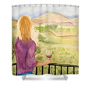 Study Of A Wine Ad Shower Curtain
