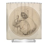 Study Of Monk Representing The Catholic Faith Shower Curtain
