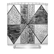 Study Of Texture Line And Materials Shower Curtain