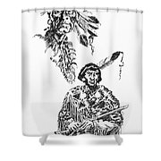Study Of Two Indians Shower Curtain
