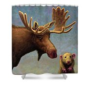 Study Of Two Mammals Shower Curtain