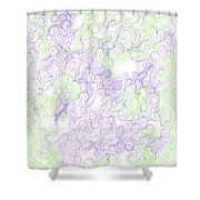 Study Purple And Green Shower Curtain