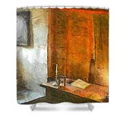 Study Table Shower Curtain