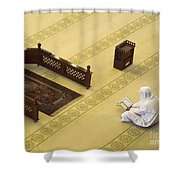 Studying The Quran Shower Curtain