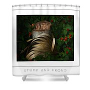 Stump And Frond Poster Shower Curtain