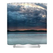 Stunning Cloudy Sunrise Seascape Shower Curtain