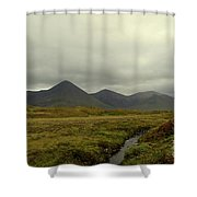 Stunning Countryside In Cuillen Hills With Large Mountains  Shower Curtain