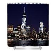 Stunning Nyc Skyline At Night Shower Curtain