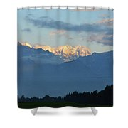 Stunning Photo Of The Countryside With Mountains  Shower Curtain