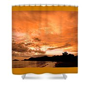 Stunning Tropical Sunset Shower Curtain