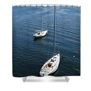 Sturgeon Bay Canal Mooring Shower Curtain