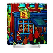 St.viateur Bagel And Hockey Kids Shower Curtain