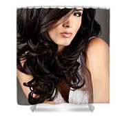 Style With No Pubic Hair Shower Curtain