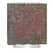Stylized Sketch With Lily Shower Curtain